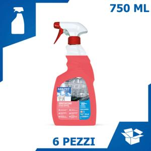 DETERGENTE SGRASSACCIAIO SUPERFICI DURE (6 PZ x 750 ML)
